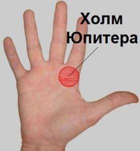 Холм Юпитера на руке