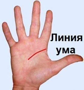 Линия ума на руке