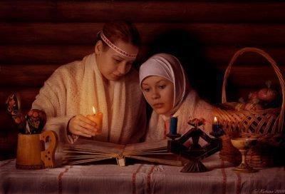 Две девушки со свечой