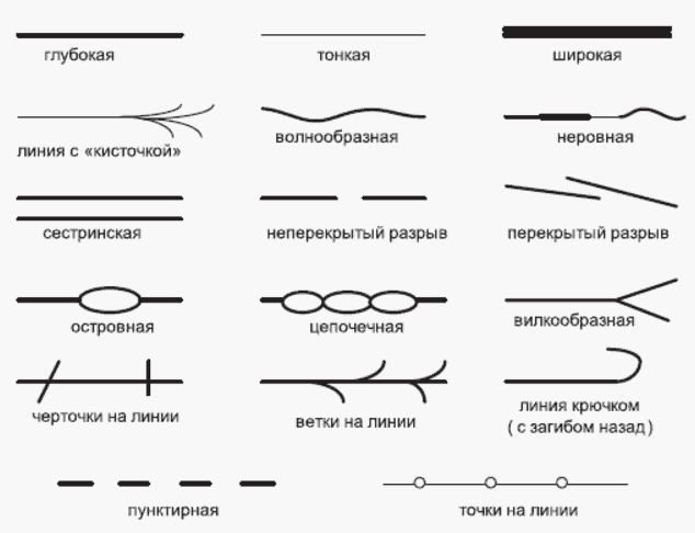 Форма линий