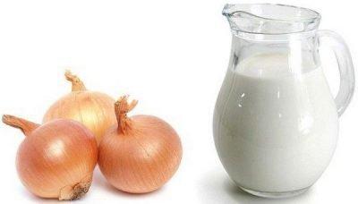 Молоко и лук для заговоров