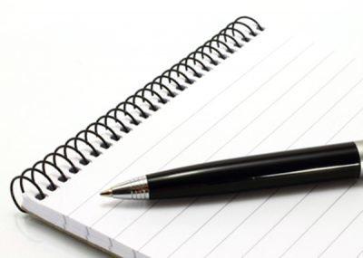 Лист и ручка