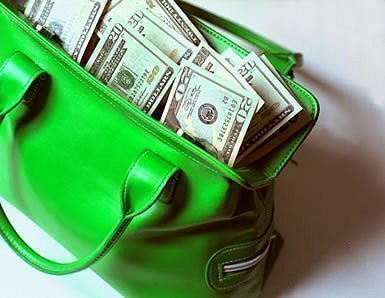 Сумка с деньгами