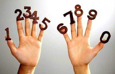 Цифры на пальцах