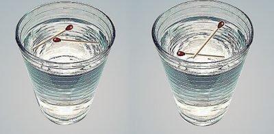 Спички и вода для определения порчи