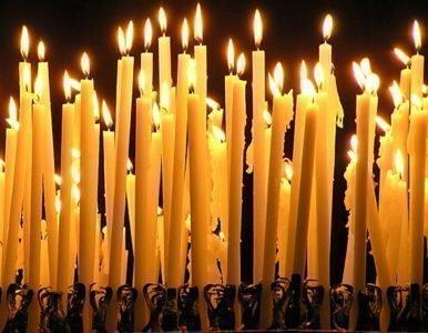 Обряд с церковными свечами