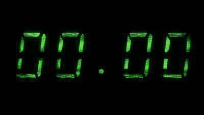 Нулевые значения на часах