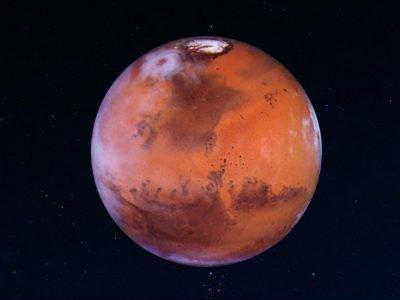 Марс на темном фоне