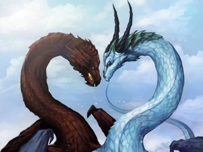 Дракон и змея вместе