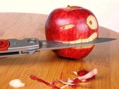 есть с ножа