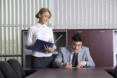 Начальник и секретарша