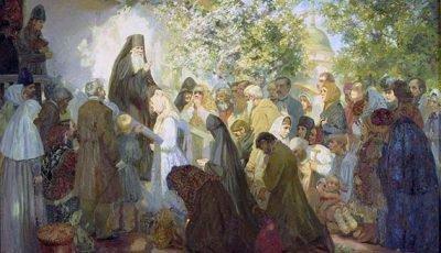Амвросий Оптинский лечит людей