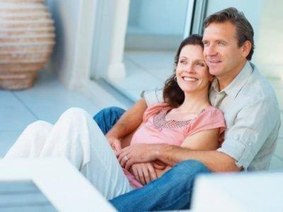 Счастливая пара дома