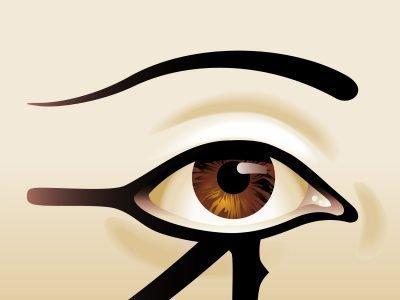 Изображение глаза и брови
