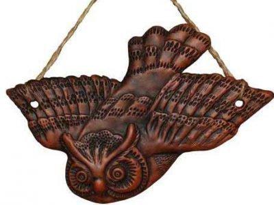 Деревянный амулет-сова
