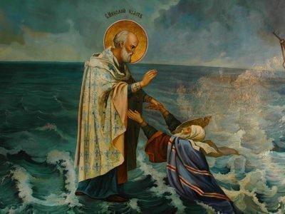 Святой Николай и молящий о помощи