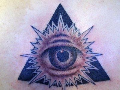 Глаз в темном треугольнике