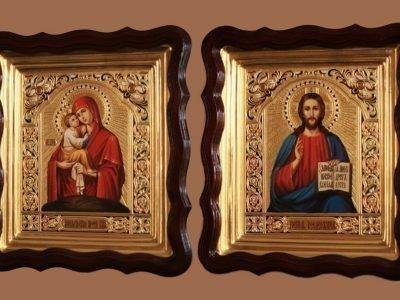 Иконы Божьей матери и Спасителя