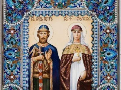 Икона князей Петра и Февронии