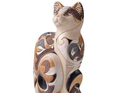 Статуэтка трехцветной кошки