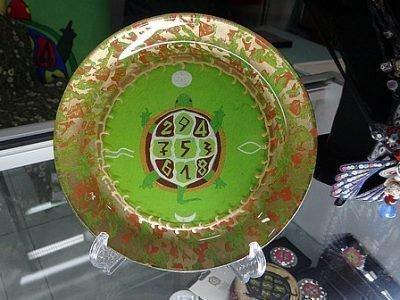 Символ черепахи на тарелке