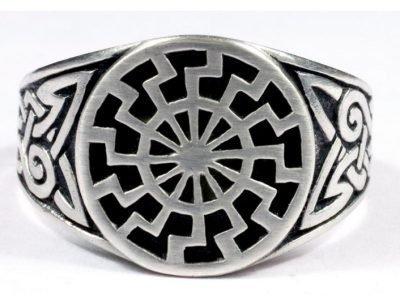 Кольцо с Черным солнцем