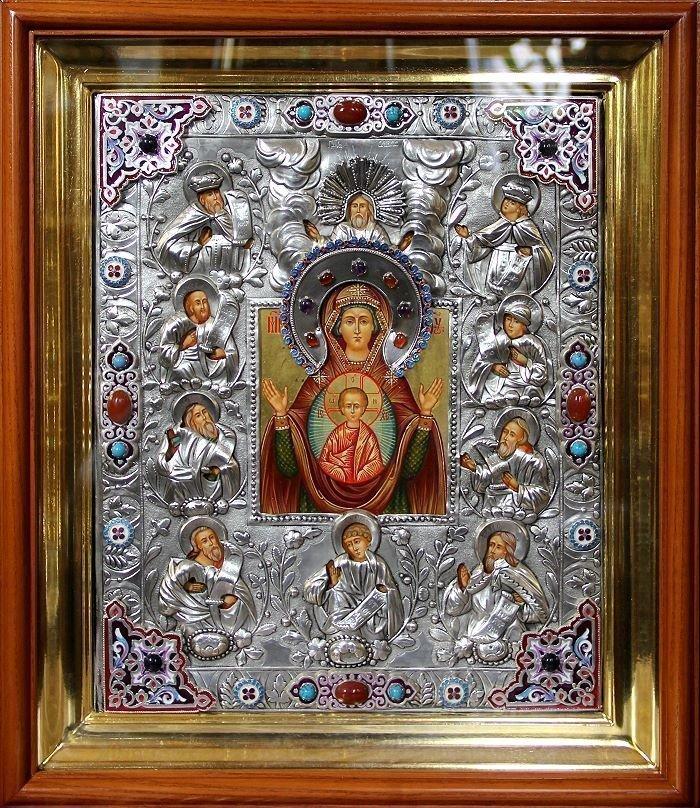 """Куская коренная икона Божьей матери """"Знамение"""""""