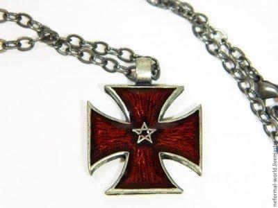 Тамплиерский крест с пентаграммой