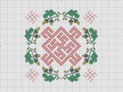 Схема вышивки Цвет папоротника