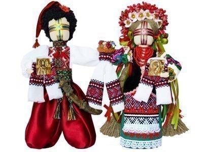 Куклы-мотанки с вышивкой