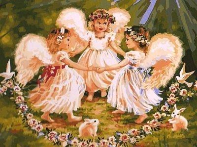 Картинка оберега Три ангела для детей