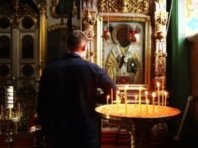 Молитва перед иконов Николая чудотворца