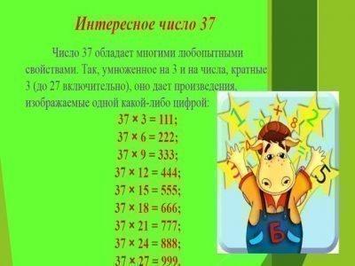 Число 37 - интересное