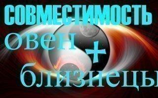 Совместимость зодиакальных знаков Близнецы и Овен