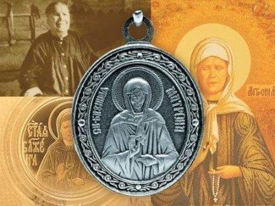 Нательная иконка св. Матроны