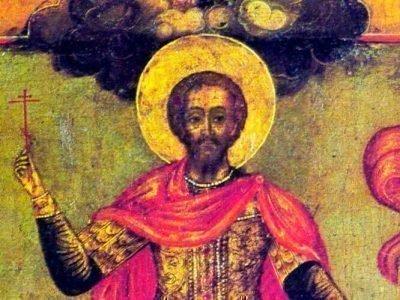 Старинная икона Иоанна Воина, которая помогла Петру Первому победить шведов