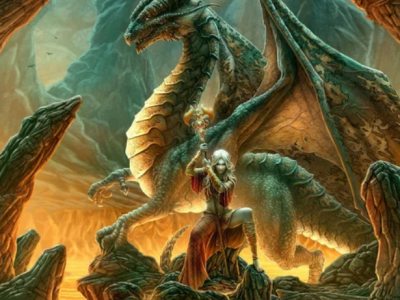 Дракон Фафнир и Сигурд