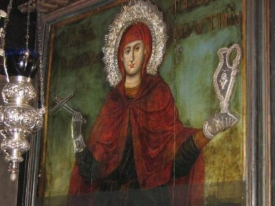 Анастасия Узорешительница, икона в храме
