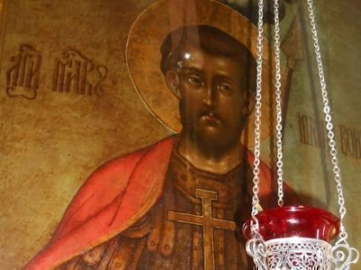 Икона Иоанна Воина в храме пророка Илии