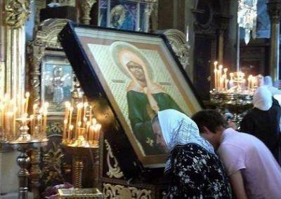 Молитва у иконы св. Матроны