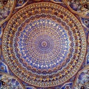 потолок медресе Тилля-Кари