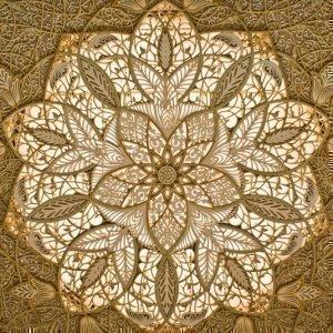 потолок мечети шейха Зайда