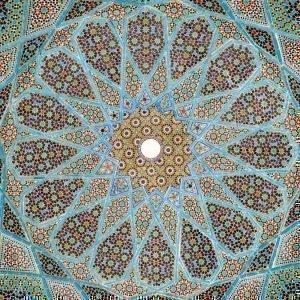 керамическая мозаика в гробнице поэта Хафеза