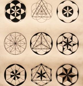 Мандала тату с геометрическим орнаментом - варианты