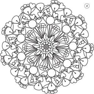 Мандала Цветок жизни, вариант 1