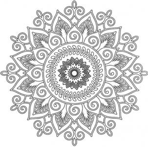 Мандала Цветок жизни, вариант 2