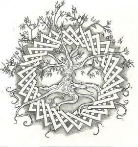 Мандала Древо желания (кельтский вариант)