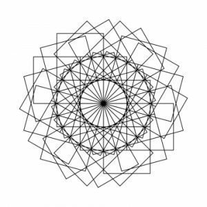 Мандала тату с геометрическим орнаментом, эскиз