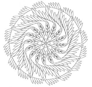Мандала-тату со спиралью , эскиз