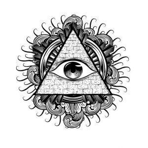 Тату мандала с символом Всевидящее око, эскиз 5